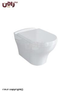 توالت فرنگی چینی کرد مدل دافنه وال هنگ همراه درب